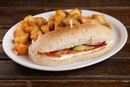Sándwich de Salmón & Papas