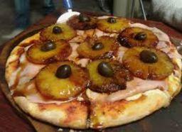 Pizza con Jamón & Ananá