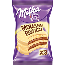 Alfajor Milka Triple Mousse Blanco 55Grs