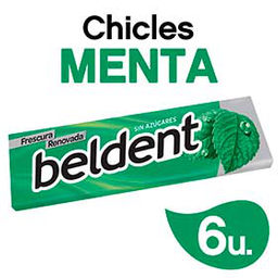Chicles Beldent Menta  10Grs