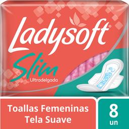 Ladysoft Toallitas Femeninas Slim C/Alas Paq