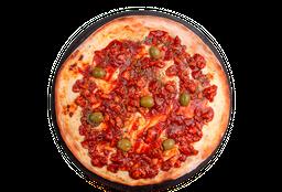 Pizza Pollo Salteado y Mozzarella