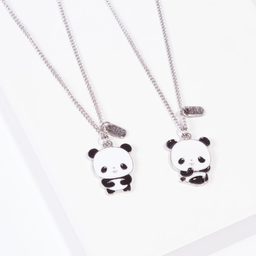 Cadena Corta Con Dije Para Compartir de Osos Pandas 2 U