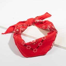 Bandana de Algodon Con Lavado de 50 x 50 cm Rojo