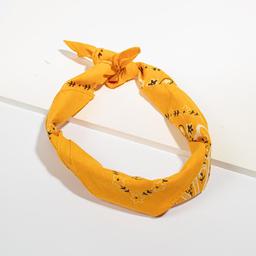 Bandana de Algodon Con Lavado de 50 X 50 Cm Amarillo