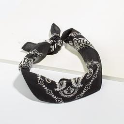 Bandana de Algodon Con Lavado de 50 x 50 cm Negro