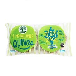 Hamburguesas de Quinoa Nutree Espinaca 400 g