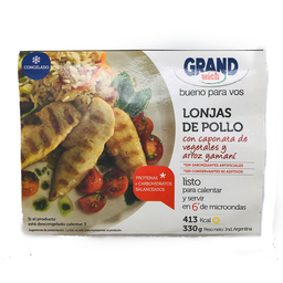 Lonjas de Pollo Grandwich Con Caponata de Vegetales 330 g