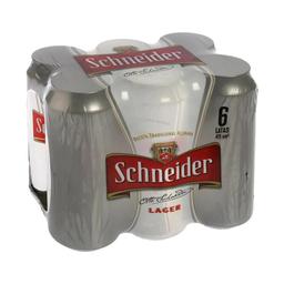 Cerveza Schneider Lata Medio 473 cc x 6