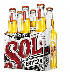 Cerveza Sol Porron 330 mL x 6