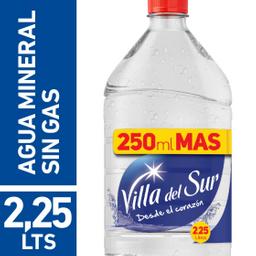 Agua Mineral Villa Del Sur Sin Gas 2.25 L