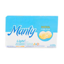 Margarina Manty Light 200 Gr
