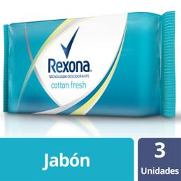 Jabón en Barra Rexona Cotton Fresh 125 g x 3