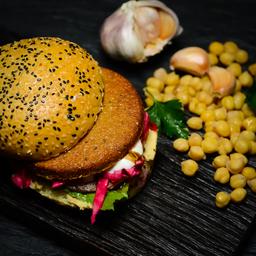 Hamburguesa de Falafel Vegetariano & Papas