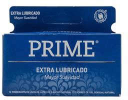 Preservativo Prime Extra Lubricado Mayor Suavidad 12 U