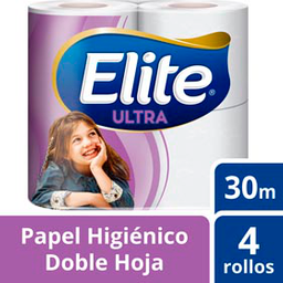 Papel Higiénico Elite Ultra Doble Hoja 30 Metros  4 U
