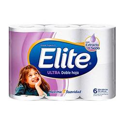 Papel Higiénico Elite Ultra Doble Hoja 30 Metros 6 U