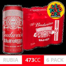 Cerveza Budweiser 473Ml X6