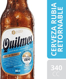 Cerveza Rubia Retornable Quilmes 340 mL