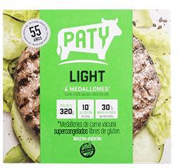 Hamburguesa Paty de Carne Light 320 g