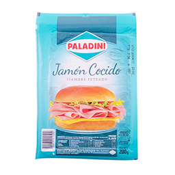 Jamón Cocido Paladini Feteado 200 g