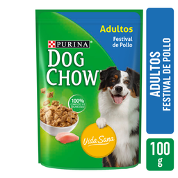 7x5 Alimento Para Perro Dog Chow Festival de Pollo 100 g