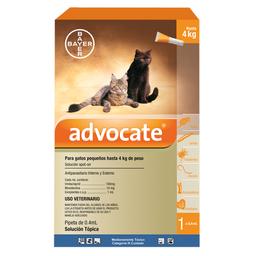 Solución Tópica Advocate Para Gatos de Hasta 4 Kg