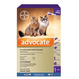 Solución Tópica Advocate Para Gatos de 4 a 8 Kg