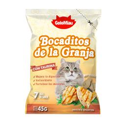 Bocaditos Para Gato Golomiau Bocadito de Granja 45 g