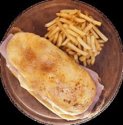 Sándwich Milanesa con Jamón y Queso