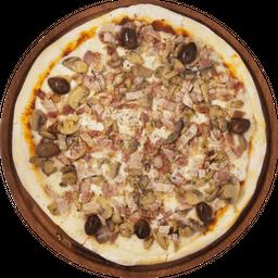 Pizza Panceta y Champiñón