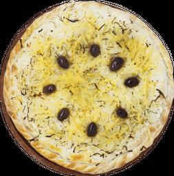Pizza Fugazzeta Rellena con Jamón, Queso y Cebolla