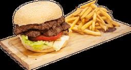 Burger Doble con Verduras