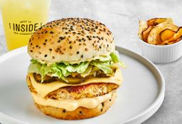 Burger de Pollo & Chips