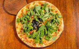 Pizza Muzzarella y Rúcula