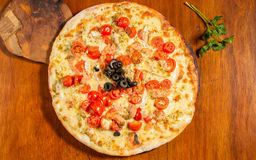 Pizza Salmón Rosado