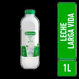 Leche La Serenísima Descremada 1% Tenor Graso Botella 1 L