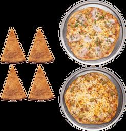 2 Pizzas Especiales + 4 Fainás