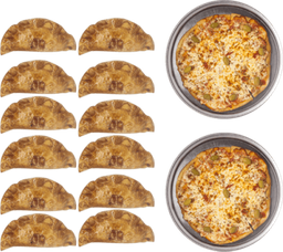 2 Pizzas + Docena de Empanadas