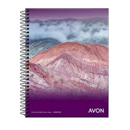 Cuaderno Avon Con Espiral A5 Tapa Flexible Rayado 46 Hojas
