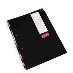 Cuaderno Staples A4 Con Espiral Cuadriculado Negro 80 Hojas