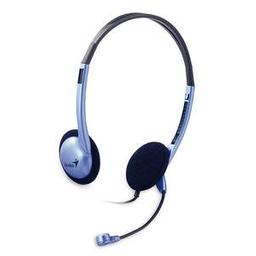Auriculares Genius Headset Hs-02b Con Micrófono Azul