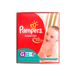 Pañales Descartables Pampers Supersec G 22 U