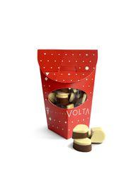 Caja Chocolate Mini Belga Leche y Blanco