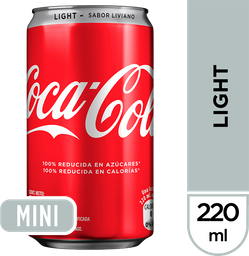 Gaseosa Coca-Cola Light 220 mL