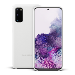 Samsung Silicon Cover S20 Blanco