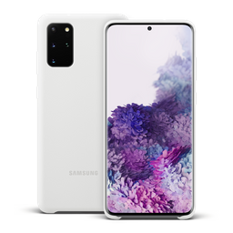 Samsung Silicon Cover S20+ Blanco
