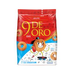 9 De Oro Galletas Anillos Coco