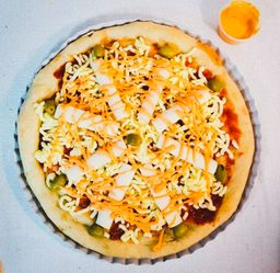 Pizza de Palmitos & Salsa Golf