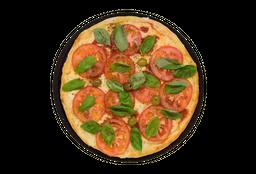 Pizza Mozzarella y Albahaca Fresca
